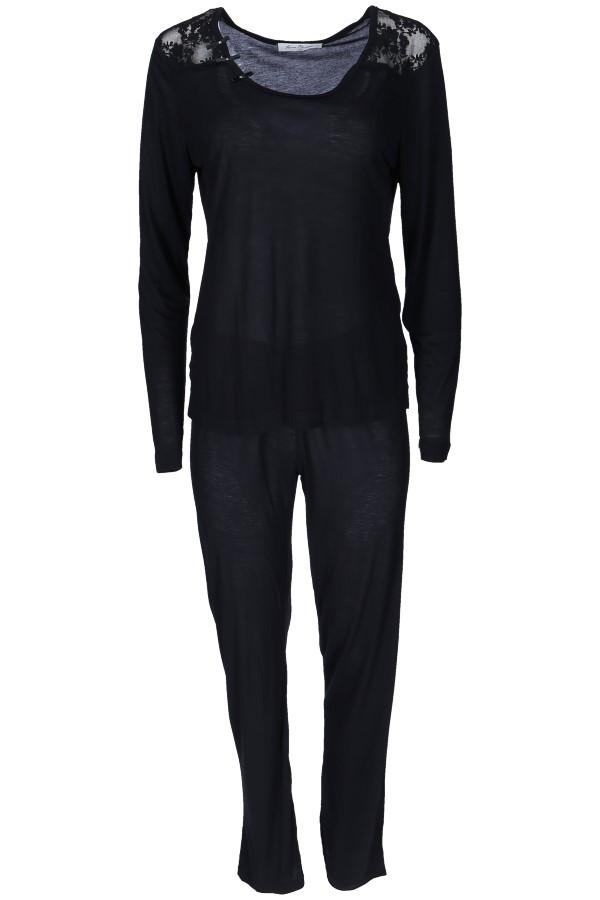Luisa Moretti Dámské bambusové pyžamo PAOLA černá XL
