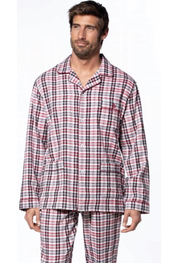 GUASCH Pánske pyžamo PABLO Bordo S