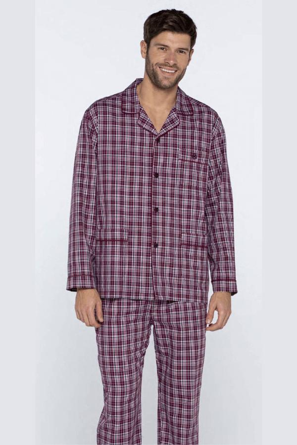 GUASCH Pánské pyžamo ROLANDO Bordo S