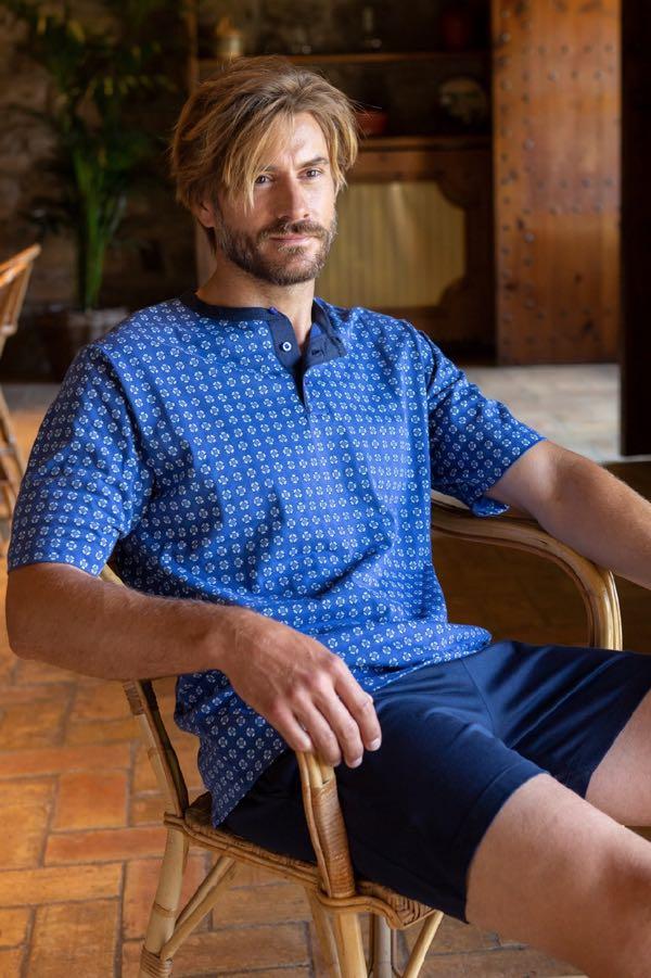 GUASCH Pánske pyžamo LEONARDO Modrá XL