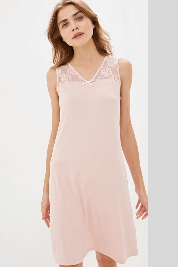 Luisa Moretti Dámská noční bambusová košilka FATINA Růžová XL